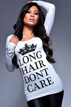 Long Hair Don't Care Long sleeve! - LHDC Clothing
