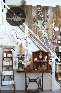 Modern Relics in the Inner Richmond, San Francisco // via Spotted SF Shop Front Design, Store Design, Shop Window Displays, Display Window, Shop Fronts, Shop Plans, Decoration, Decorative Items, Etsy
