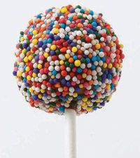 Covering a Cake Pop with Sprinkles - For quick party pops, after you dip in candy, do a second dip in Wilton Sprinkles! Whether you use nonpareils, jimmies or colored sugars, you'll have an instant colorful treat everyone will love. Wilton Cake Decorating, Cake Decorating Tools, Cookie Decorating, Wilton Sprinkles, Sugar Sprinkles, Cute Cakes, Pretty Cakes, Wilton Cakes, Cupcake Cakes