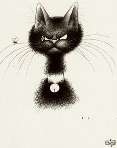 Albert Dubout 'Les chats' 14