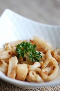 Spicy Sautéed Calamari…thank goodness you don't have to give up calamari on Paleo! Spicy Sautéed Calamari…thank goodness you don't have to give up calamari on Paleo! Fish Dishes, Seafood Dishes, Seafood Recipes, Paleo Recipes, Whole Food Recipes, Cooking Recipes, Squid Dishes, Seafood Meals, Paleo Meals