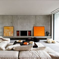 20 Concrete Living Room Design Ideas
