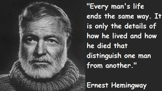 Ernest Miller Hemingway (July 21, 1899 – July 2, 1961) was an American author and journalist. His economical and understated style had a strong influence on 20th-century fiction, while his life of adventure and his public image influenced later generations. Hemingway produced most of his work between the mid-1920s and the mid-1950s, and won the Nobel Prize in Literature in 1954. He published...