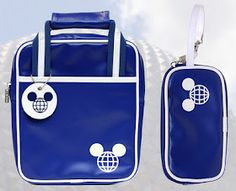 Disney Parks D-Tech vintage air travel bag motif gadget sleeves