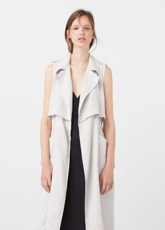 Soft fabric vest | MANGO