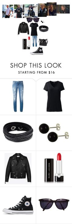 """I'd Be Jax Teller's Old Lady"" by hanna-debruhl ❤ liked on Polyvore featuring Dolce&Gabbana, Lands' End, Swarovski, Yves Saint Laurent, Marc Jacobs, Converse, Sonia Rykiel and Sons of Anarchy"