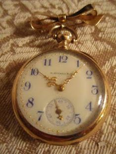 Found at a thrift store for 6 dollars - early 1900's gold pocket watch