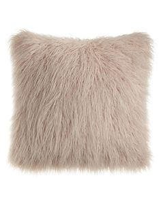 Khan Mauve Faux-Fur Pillow