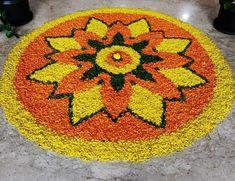 Simple Flower Design, Simple Flowers, Flower Designs, Flower Rangoli, Rangoli Designs, Flower Decorations, Jewelery, Bridal, Rugs