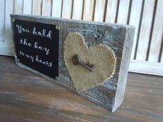 Wooden art decor/key to my heart