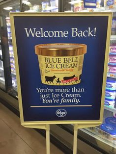 Welcome back, Blue Bell ! Hell yes I love blue bell!!!!