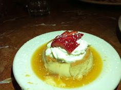 Flan from Angela's Cafe in East Boston, MA