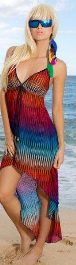 Toucan Hi Low Dress Style L930