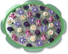 September Glorious Bouquet Hand Decorated Sugar Cubes