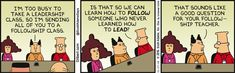 Training can be a help to the office only if it's done with the right intent, unlike this #Dilbert #comic. Take a class with us www.CBCWebCollege.com
