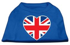 Mirage Pet Products British Flag Heart Screen Print Shirt, Large, Blue * To view further for this article, visit the image link.