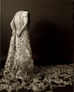 beautiful!  Christine Elfman    Storydress I    series of 12 images of dress made of torn story books  2003