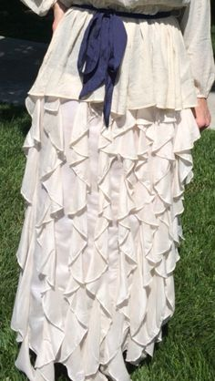 Cream ruffled waterfall skirt. Cascades if ruffles make this unique and very elegant. Cream in color that shimmer in the light. Grab this skirt for only $36.00 with the 25% off code save25 at checkout @ Shannasthreads.com Hurry only a few left!!! Apostolic Fashion, Modest Fashion, Fashion Outfits, Modest Outfits, Cool Outfits, Modest Clothing, Cream Skirt, Ruffle Skirt, Ruffles