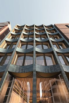 [New] The 10 Best Home Decor (with Pictures) High Building, Building Facade, Brick Architecture, Concept Architecture, Glazed Brick, Timber Structure, Brick Facade, Susa, Commercial Architecture