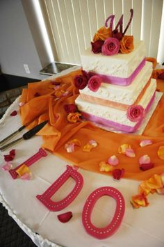 i love the idea of ido on the cake table..i am going to do this with wood letters and paint them