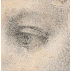 "artemisdreaming: "" Michelangelo, eye taken from Ideal head of a woman sketch Michelangelo Large image: HERE Michelangelo Buonarroti was considered the best artist in Italy when he was alive, and. Michelangelo, Famous Artists, Great Artists, Drawing Sketches, Art Drawings, Woman Sketch, Eye Sketch, High Renaissance, Chef D Oeuvre"
