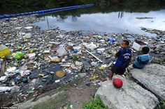 Latrine: This is the edge ofGuanabara Bay, which will host the sailing competitions during the Rio Olympics in just two months time