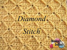 Learn How to Crochet a Diamond Stitch by Meladora's Creations.