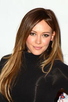 Hilary Duff. minimal ombre.