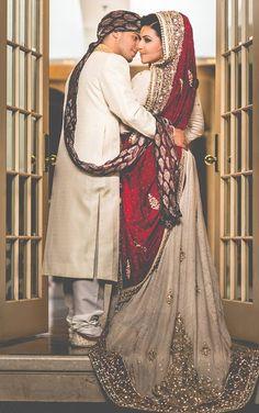 Desi Weddings awkward shot but pretty clothes lol