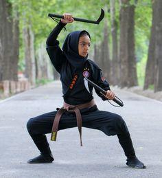 """The Lady Ninjas of Iran"" (Written by : Mansoureh Farahani,eng.majalla.com)"