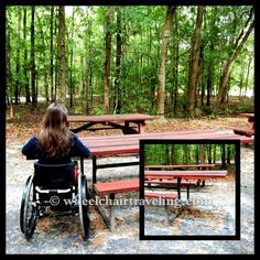 Wheelchair Zip Wire Chair Covers Round 47 Best Friendly Getaways Images Spinal Cord Injury Accessible Picnic Table Outdoors In Savannah Georgia See It Believe Do Watch Thousands Of Videos At
