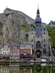 BELGIË / Beautiful Architecture in Dinant, Belgium Places Around The World, Oh The Places You'll Go, Places To Travel, Places To Visit, Around The Worlds, Beautiful Architecture, Beautiful Buildings, Beautiful Places, Amazing Places