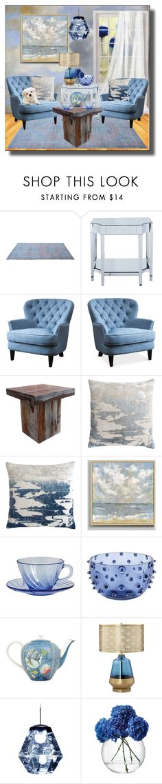 """Tea in the Clouds"" by kelly-floramoon-legg ❤ liked on Polyvore featuring interior, interiors, interior design, home, home decor, interior decorating, Coast to Coast, Kevin O'Brien, Ballard Designs and PiP Studio"