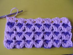 Crochet Stitch Tutorial  I would like to do this stitch. For baby blankets and afghans.