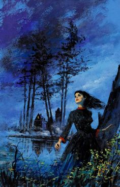 Dave Karlen Original Art Blog: Gothic Romance Covers (Women Who Run From Houses)