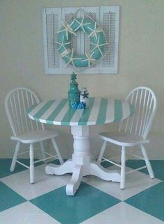 Casual Beach Living - Pretty Turquoise and White Colors.