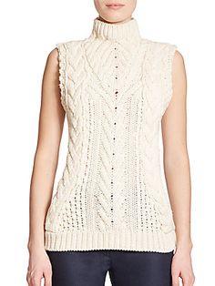 Altuzarra Marlon Cabled Merino Wool Sweater $595