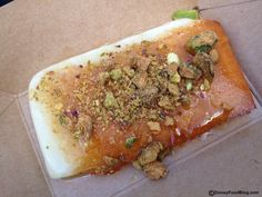 Griddled Greek Cheese with Pistachios and Honey | Epcot Food & Wine Festival