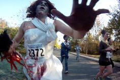 """This was during the """"Danger.Zombie.Run"""" race in October... this is my motivation to run tonight."""