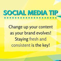 A quick #socialmediatip for you all. Keep it fresh!