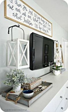 30 amazing living room tv wall decor ideas and remodel Bedroom Tv Stand, Bedroom Tv Wall, Girls Bedroom, Bedroom Ideas, Bedroom Decor, Modern Bedroom, Contemporary Bedroom, Master Bedrooms, Bed Room