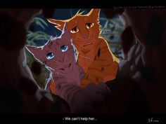 Lionblaze and Jayfeather watch as Hollyleaf dives into the tunnels, running from the truth