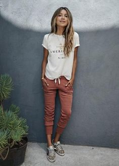 Sincerely Jules LUX JOGGERS - AUBURN