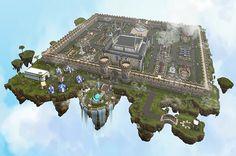 Minecraft awesome floating island/kingdom