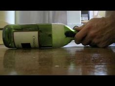 How to cut a bottle with a dremel tool.