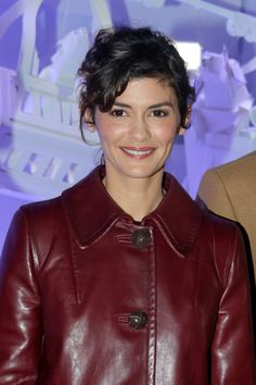 AUDREY TAUTOU at Galeries Lafayette Haussmann Christmas ...