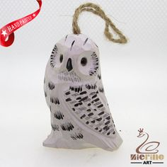New listing! Hand-carved wooden owl painted decorative wall carvings ZR10032 #ZL #Ornament