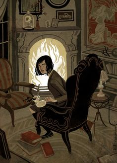 bookporn: lostintherenaissance: library-love: circlestarunderline: dylanmeconis: Kali Ciesemier is absolutely nailing her illustrations for Garth Nix's wonderful dark fantasy YA novel, Sabriel, over at Picture Book Report. So lovely! Art And Illustration, Bd Comics, Animation, Arte Pop, Graphic, Art Inspo, Character Inspiration, Art Reference, Illustrators