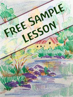 Waldorf block crayon drawing | Crayon drawing lesson | Waldorf education | Waldorfish | Free sample lesson | Homeschooling art | Homeschool | Re-Pin and share!