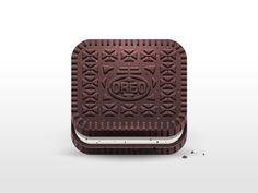 Oreo Mobile App Icon by Julian Burford. Web Design, App Icon Design, Graphic Design, Flat Design, Creative Design, Mobile App Icon, Ios App Icon, App Ui, Launcher Icon